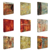Stupell Industries Multi Color Abstract 9 Piece Graphic Art on Canvas Set
