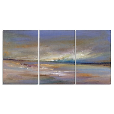 Stupell Industries Ocean Horizon Painting Triptych 3 Piece Graphic Art Wall Plaque Set