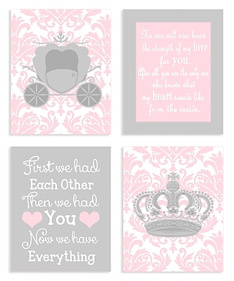 Stupell Industries The Kids Room Girl Sweet Messages Graphic Art Wall Plaque (Set of 4)