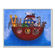 Stupell Industries The Kids Room Noah's Ark Painting Print Wall Plaque