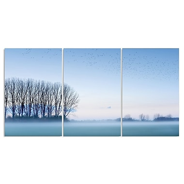 Stupell Industries Foggy Woods Landscape Triptych 3 Piece Photographic Print Wall Plaque Set