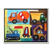 Stupell Industries The Kids Room Construction Trucks Graphic Art Wall Plaque