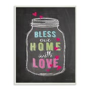 Stupell Industries Bless Our Home w/ Love Chalkboard Look Textual Art Wall Plaque