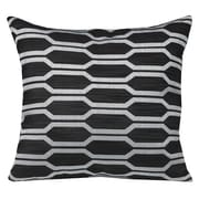Westex Urban Loft Hexagon Throw Pillow; Black