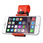 Insten® Universal Car Steering Wheel Phone Holder Mount, Black/Red