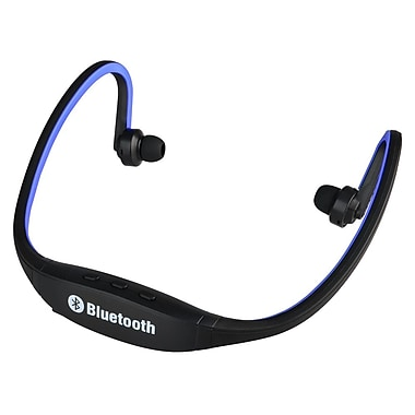 Insten® 1955635 Universal Wireless Bluetooth Sports Headset Headphone with Microphone Blue