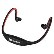 Insten® 2055768 Universal Hands-Free Wireless Bluetooth 3.0 Sport Headphone with Microphone, Red