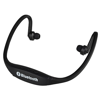 Insten® Universal Wireless Bluetooth Sports Headset with Microphone Black (1955634)