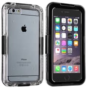 Insten® Hard Plastic Waterproof Cover Case Lanyard for Apple iPhone 6 Plus Clear/Black (2062487)