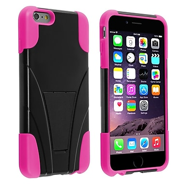 Insten® Hard Hybrid Plastic Silicone Case with Stand for Apple iPhone 6 Plus Black/Pink (1938928)