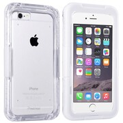 Insten® Hard Plastic Waterproof Case Lanyard for Apple iPhone 6 Clear/White (2062484)
