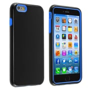 Insten® Verge Hard Hybrid Rubber Coated Silicone Cover Case with Holster for Apple iPhone 6 Plus Black/Blue (1936395)