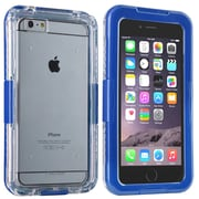 Insten® Hard Plastic Waterproof Cover Case Lanyard for Apple iPhone 6 Plus Clear/Blue (2062490)