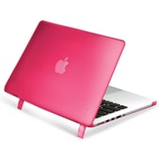 """Insten® Hard Rubber Cover Case for Apple Macbook Pro with Retina Display 15"""" Hot Pink (1991126)"""
