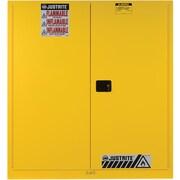 "Justrite® Sure-Grip® EX Vertical Drum Storage Cabinets, 2 Doors, Manual with Drum Rollers, 59"" x 34"" x 65"", 781Lb"