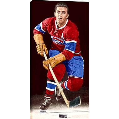 Richard M. Unsigned HHOF Canvas, Canadiens Posed On Ice-V, 14