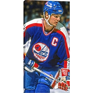 Hawerchuk D Unsigned HHOF Canvas, Jets Close-Up -V, 14