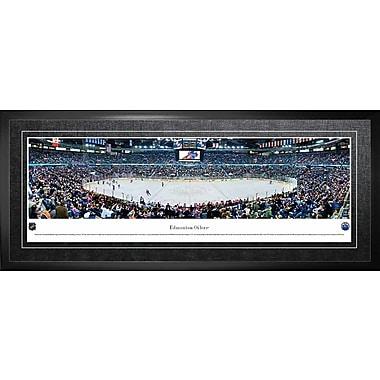 Oilers d'Edmonton, encadré, aréna en vue panoramique, 21 x 48 po