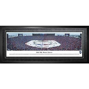 Maple Leafs de Toronto, encadré, Classique hivernale de 2014 en vue panoramique, 21 x 48 po
