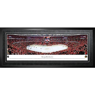 Blackhawks de Chicago, encadré, aréna en vue panoramique, 21 x 48 po