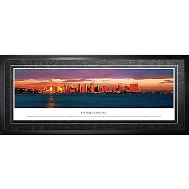San Diego, CA Framed, Panorama Night, 21
