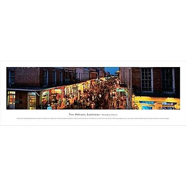 New Orleans, LA Panorama Plaque, Bourbon Street, 13.5