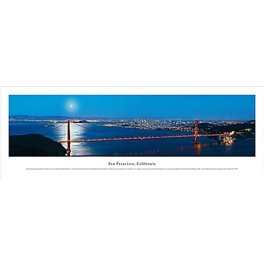 San Francisco, CA Panorama Plaque, Night, 13.5