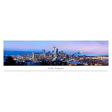 Seattle, WA Panorama Plaque, Night, 13.5