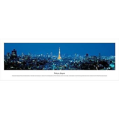 Tokyo, Japan Panorama Plaque, Night, 13.5