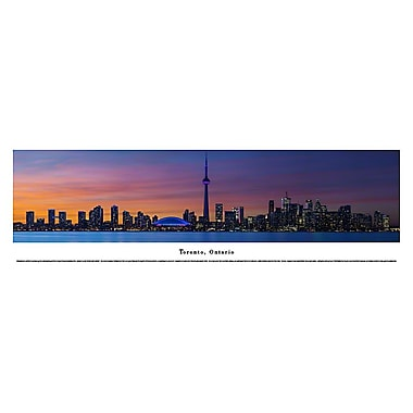 Toronto, ON Panorama Plaque, Night, 13.5