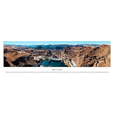 Hoover Dam Panorama Plaque, Downstream, 13.5