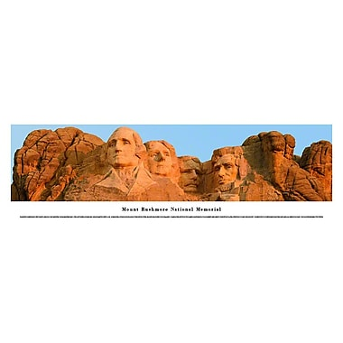 Mount Rushmore Panorama Plaque, Day, 13.5