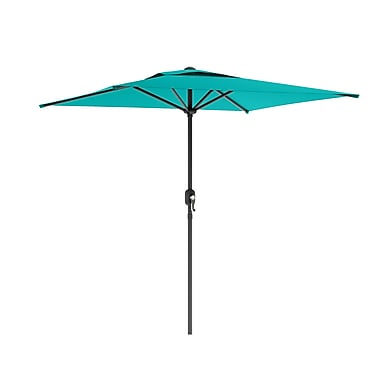 CorLiving PPU-360-U Square Patio Umbrella, Turquoise Blue