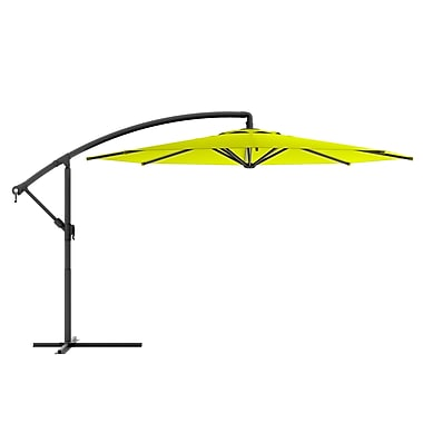 CorLiving PPU-440-U Offset Patio Umbrella, Lime Green