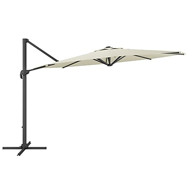 CorLiving PPU-510-U Deluxe Offset Patio Umbrella, Warm White