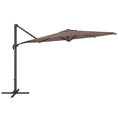 CorLiving PPU-520-U Deluxe Offset Patio Umbrella, Sandy Brown