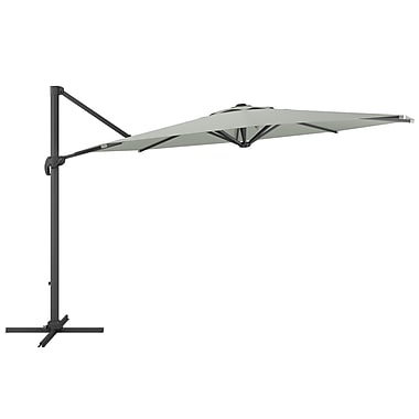 CorLiving PPU-530-U Deluxe Offset Patio Umbrella, Sand Gray