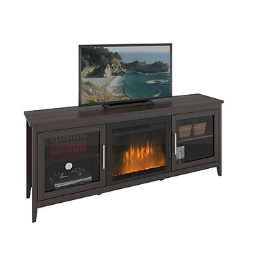CorLiving TFP-684-Z Jackson Fireplace TV Bench, up to 80