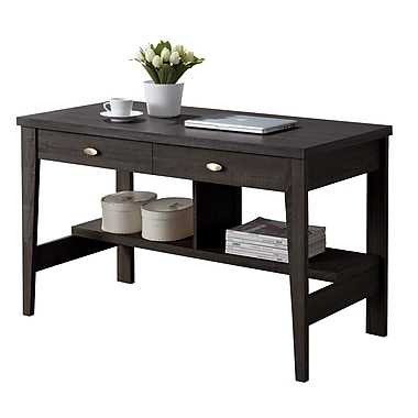 CorLiving WFP-280-D Folio Two Drawer Desk, Black Espresso