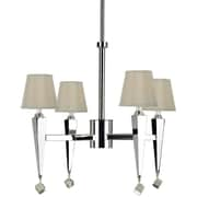 AF Lighting 6680 4-Light Chandelier, Cream Shades (66804H)