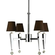 AF Lighting Margo 4-Light Chandelier, Chocolate Shades (66874H)