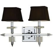 AF Lighting Cluny Two-Light Vanity Lamp, Chocolate Shades (67642W)