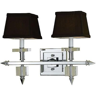 AF Lighting 6764 2-Light Vanity Lamp, Chocolate Shades (67642W)