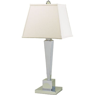 AF Lighting 6774 Table Lamp, Cream Shade (6774TL)