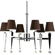 AF Lighting 6779 6-Light Chandelier, Chocolate Shades (67796H)