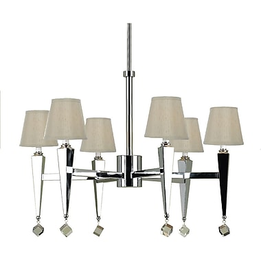 Margo Six Light Chandelier- Cream Shades