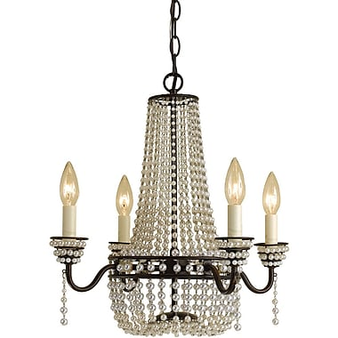 AF Lighting Parlor Mini Chandelier, Cream (70034H)
