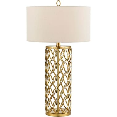 AF Lighting Cosmo Table Lamp, Satin Brass (8101TL)