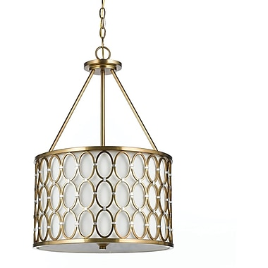 AF Lighting Cosmo Pendant, Satin Brass (81033H)