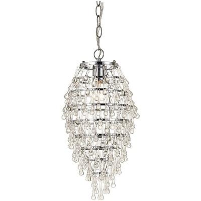 AF Lighting Crystal Teardrop Chandelier, Clear (81221H)